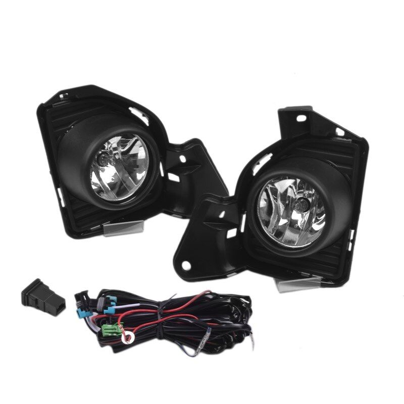 1 Set Of 12v Fog Lamp Assembly With Led Light 3200k Yellow Color Temperature Fog Lamp Suitab Di 2020