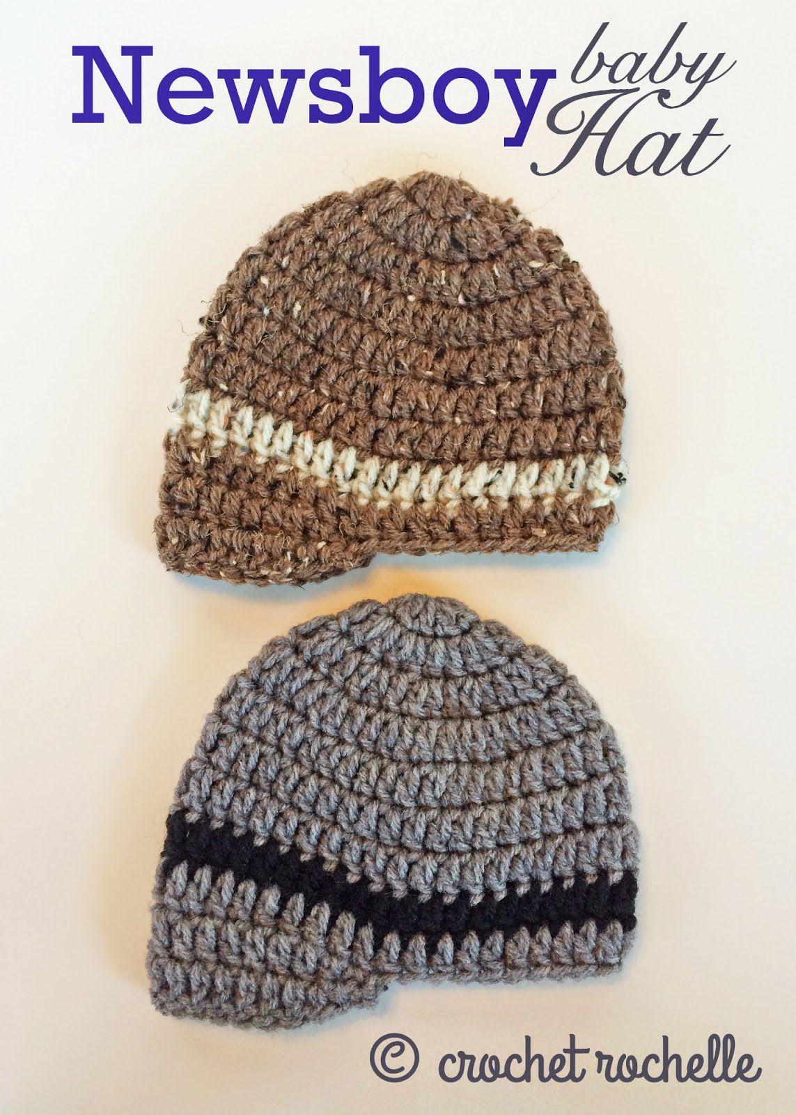 Crochet Rochelle: Newsboy Baby Hat Pattern   projects   Pinterest ...