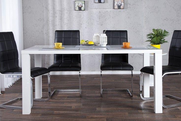 Design Esstisch LUCENTE weiß Hochglanz 160cm Tisch Wohnzimmer