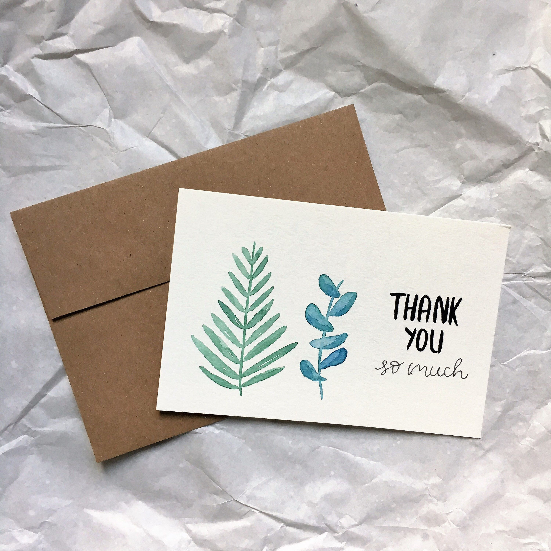 A simple thanks card
