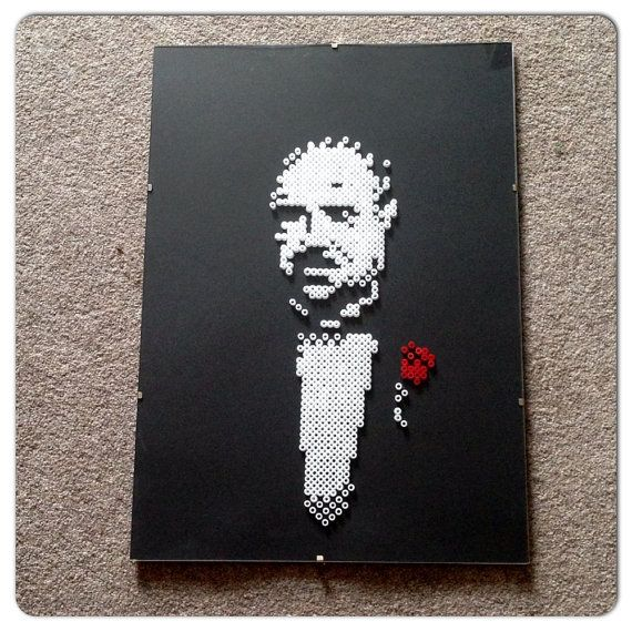 Hey, I found this really awesome Etsy listing at https://www.etsy.com/listing/184977353/the-godfather-perler-hama-bead-8-bit