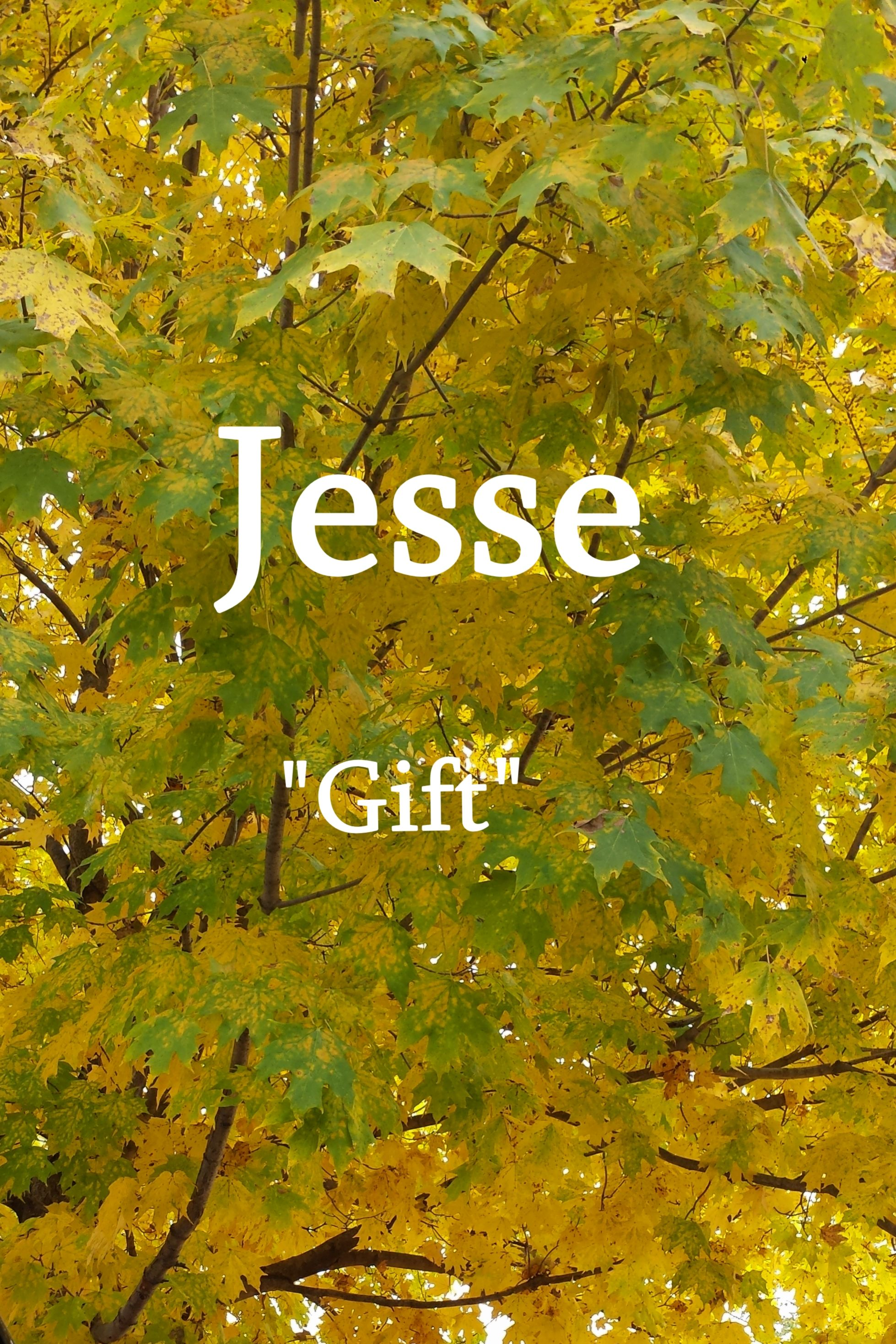 "Jesse, a Hebrew name meaning ""gift"" 
