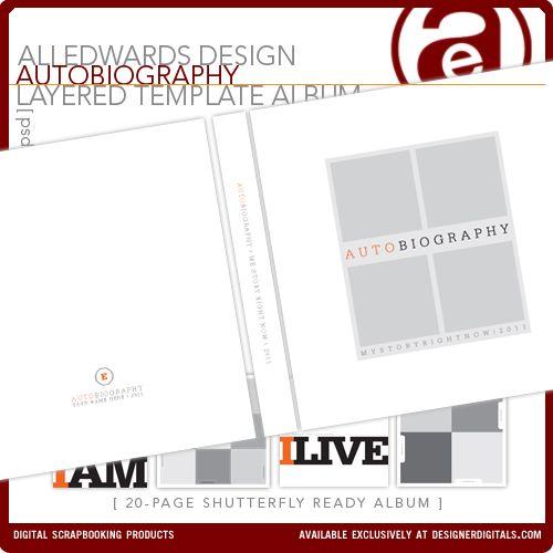 Ali Edwards--autobiography digi kit Scrapbooking Ideas Pinterest