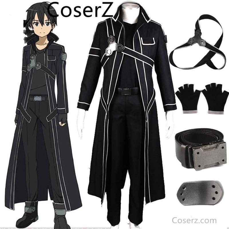 77aa091a5f618 Custom-made Anime Sword Art Online Kirito Cosplay kostium kostiumy ...