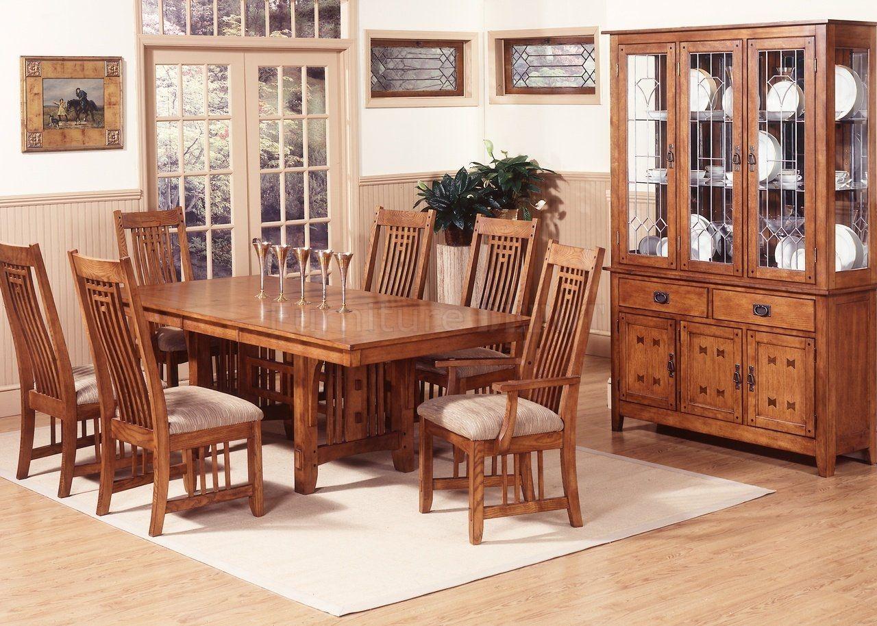 Attirant Bassett Mission Style Dining Room Furniture