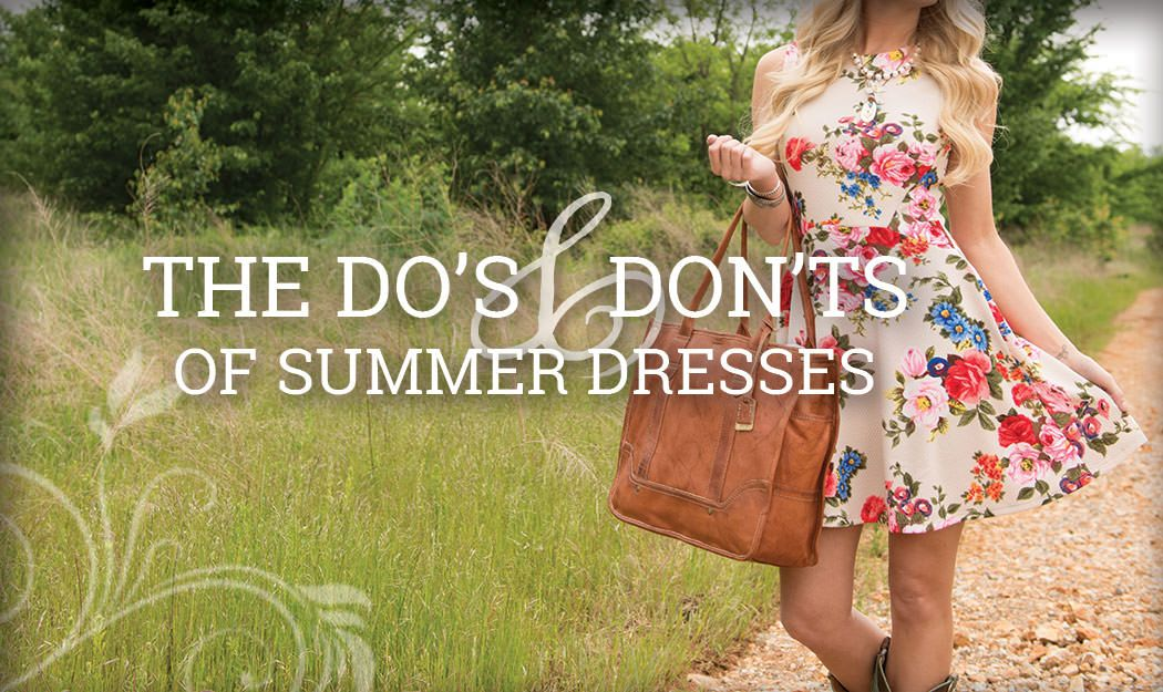 There is a right way and a wrong way to wear summer dresses. Are YOU doing it right?