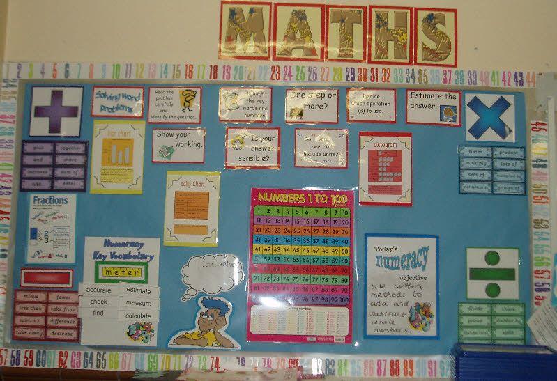 Classroom Display Ideas Year 4 ~ Maths wall classroom display photo gallery