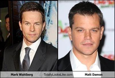 Mark Wahlberg Totally Looks Like Matt Damon Dopplegangers Look