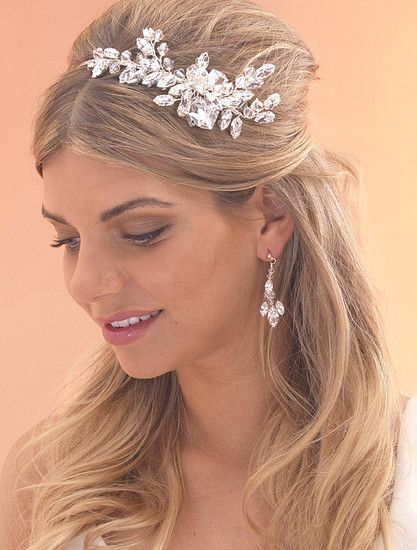 Chunky Crystal Diamante Bridal Side Tiara Comb By Arianna Tiaras