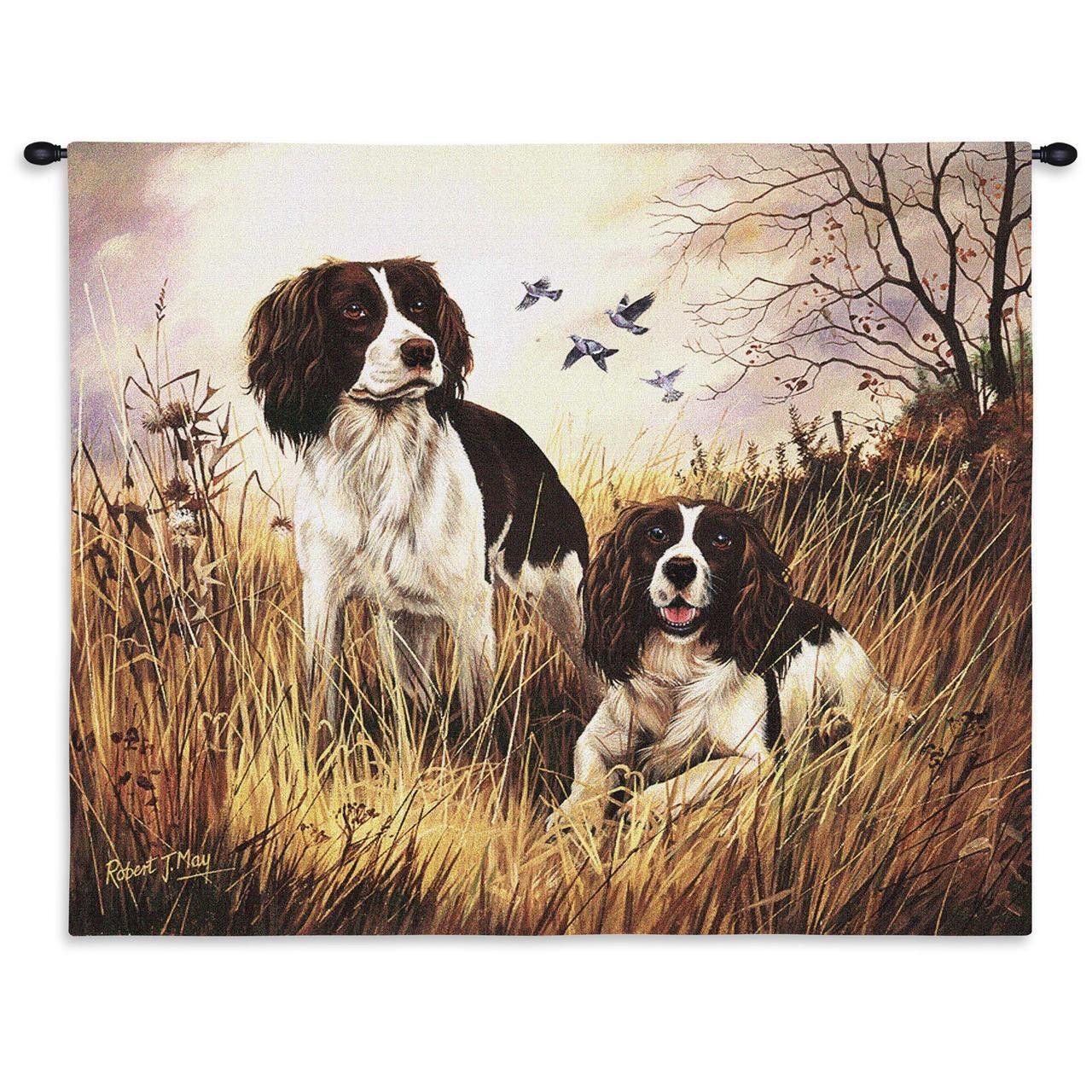 English Springer Spaniel Dogs Art Tapestry Wall Hanging English Springer Spaniel Springer Spaniel Spaniel