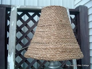 Ballard Designs Knock Off Seagrass Lamp Shade Diy Lamp Shade Country Cottage Decor Country Chic Cottage