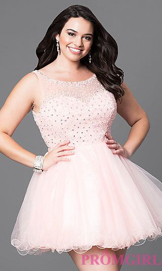 Short Plus Babydoll Prom Dress in 2019   Plus prom dresses ...