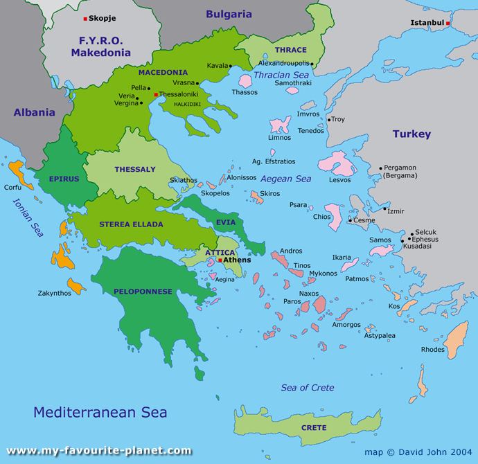 greece map Maps of Greece Pinterest Interactive map