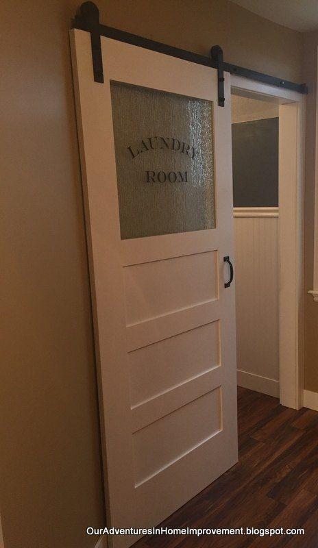 Photo of Das + Finishing + Touch-A + Sliding + Barn + Door + für + die + Wäscherei + Room