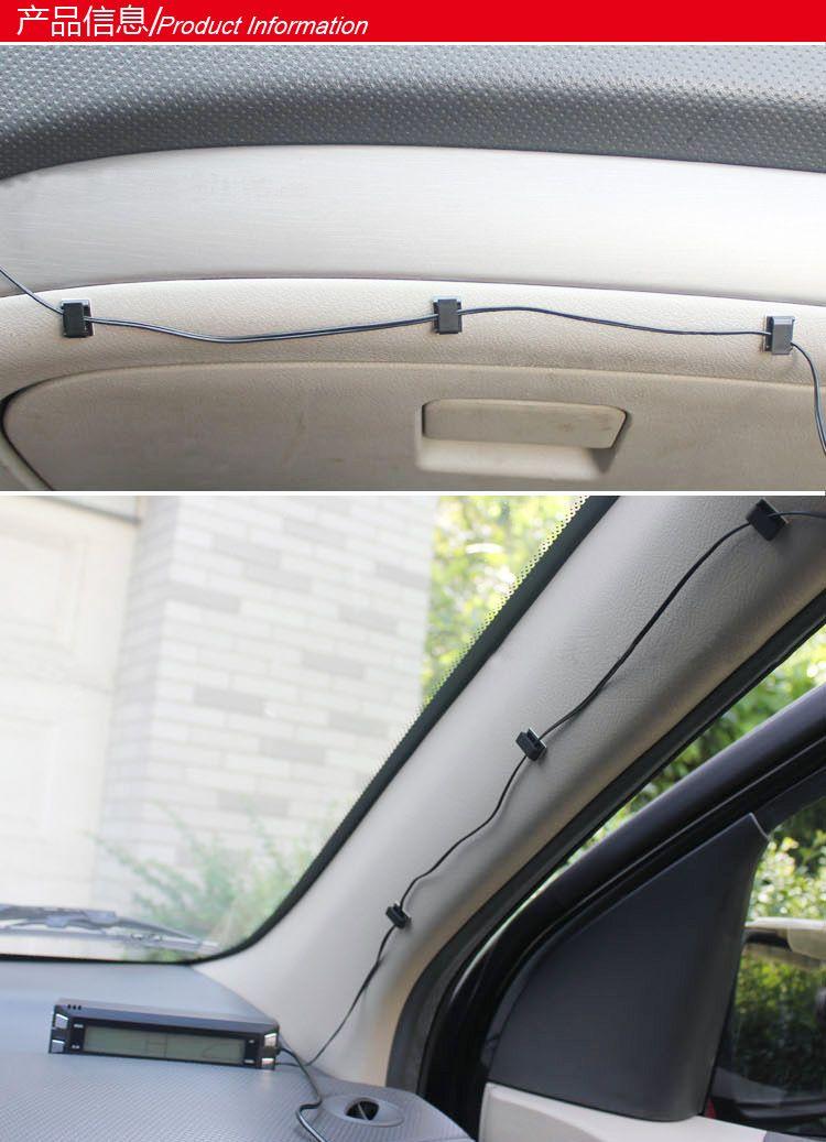Auto Drahtseil Clip Kabelhalter Krawattenklammern Fixer Veranstalter Drop Adhesive Clamp Kostenloser Versand