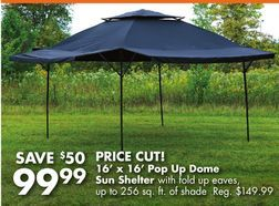 Wilson FisherR 16 X Dome Pop Up Sun Shelter From