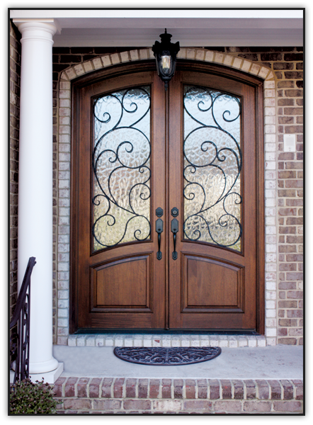 Spanish style wooden gates doors by design home - Interior decorative wrought iron gates ...