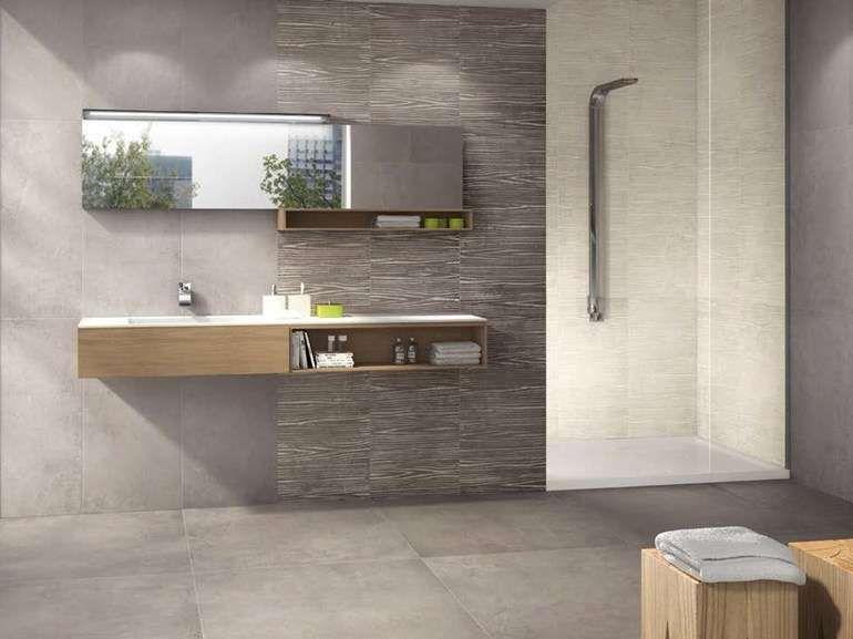 Piastrelle bagno moderno nel 2019 casa pinterest tiles bathroom e porcelain tile - Piastrelle grigie bagno ...