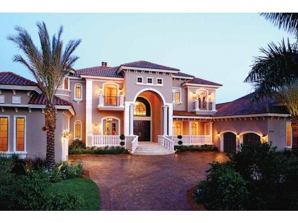 Mediterranean Style House Plan 5 Beds 5 5 Baths 6780 Sq Ft Plan 1017 1 Luxury House Plans Mediterranean House Plans Mediterranean Style House Plans