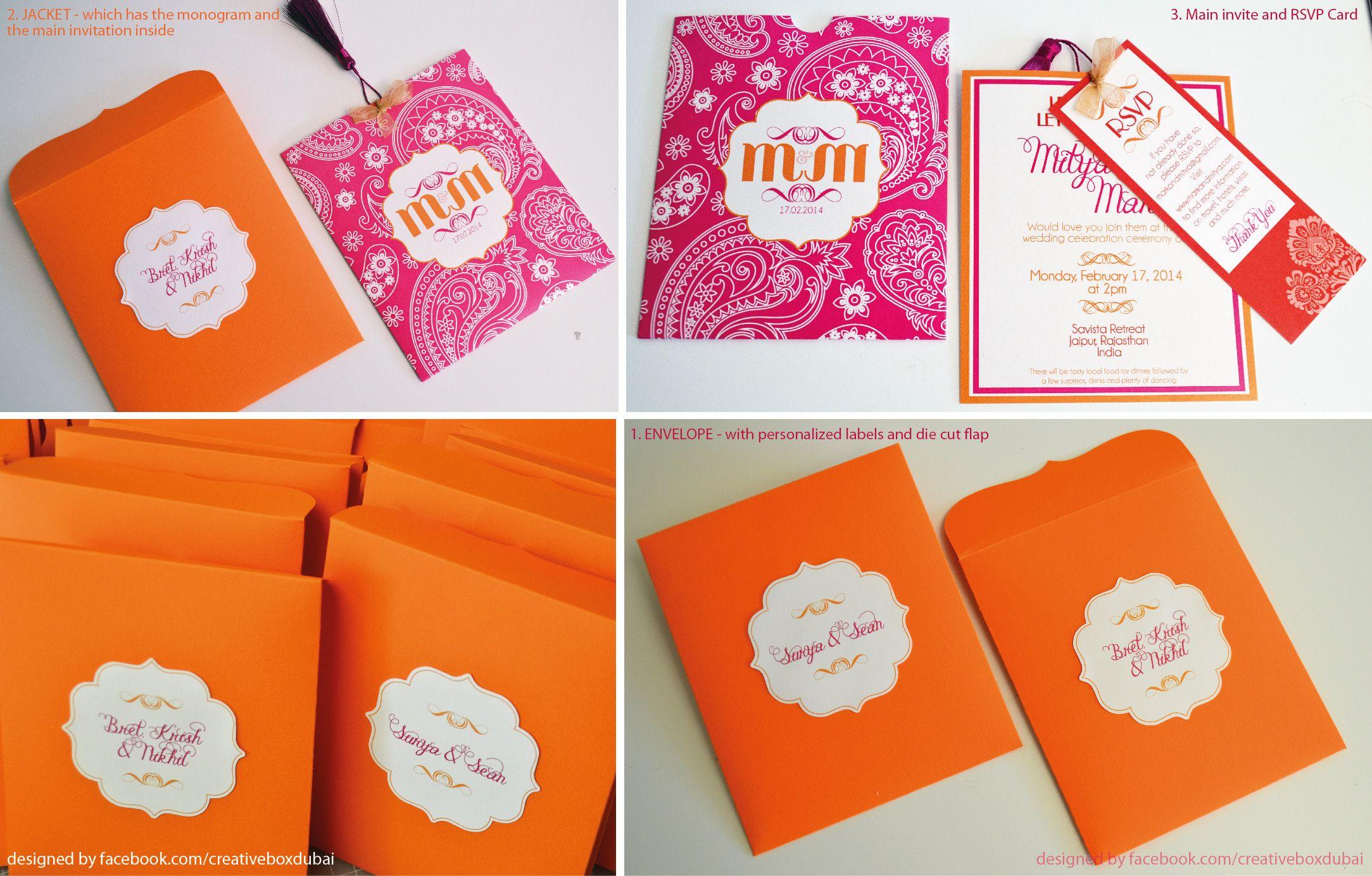indian wedding invitations california%0A Wedding Invitation  bright colors  destination wedding in Jaipur  India     orange