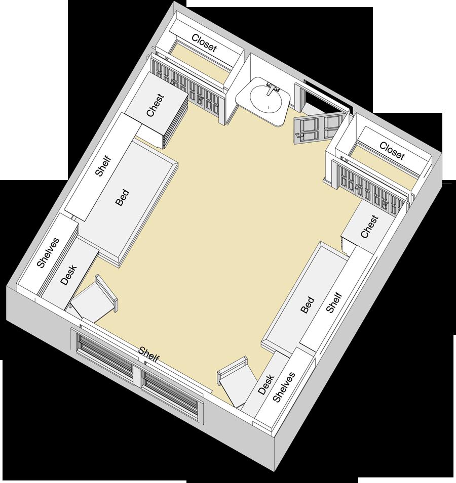 Stangel/Murdough Complex Floor Plan   Texas tech dorm, Dorm ... on