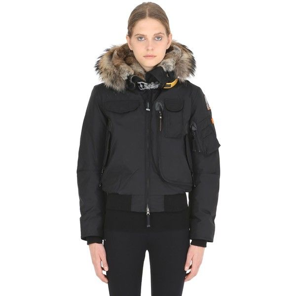 Parajumpers Women Long Bear Nylon Down Parka W/ Fur (£820) ❤ liked
