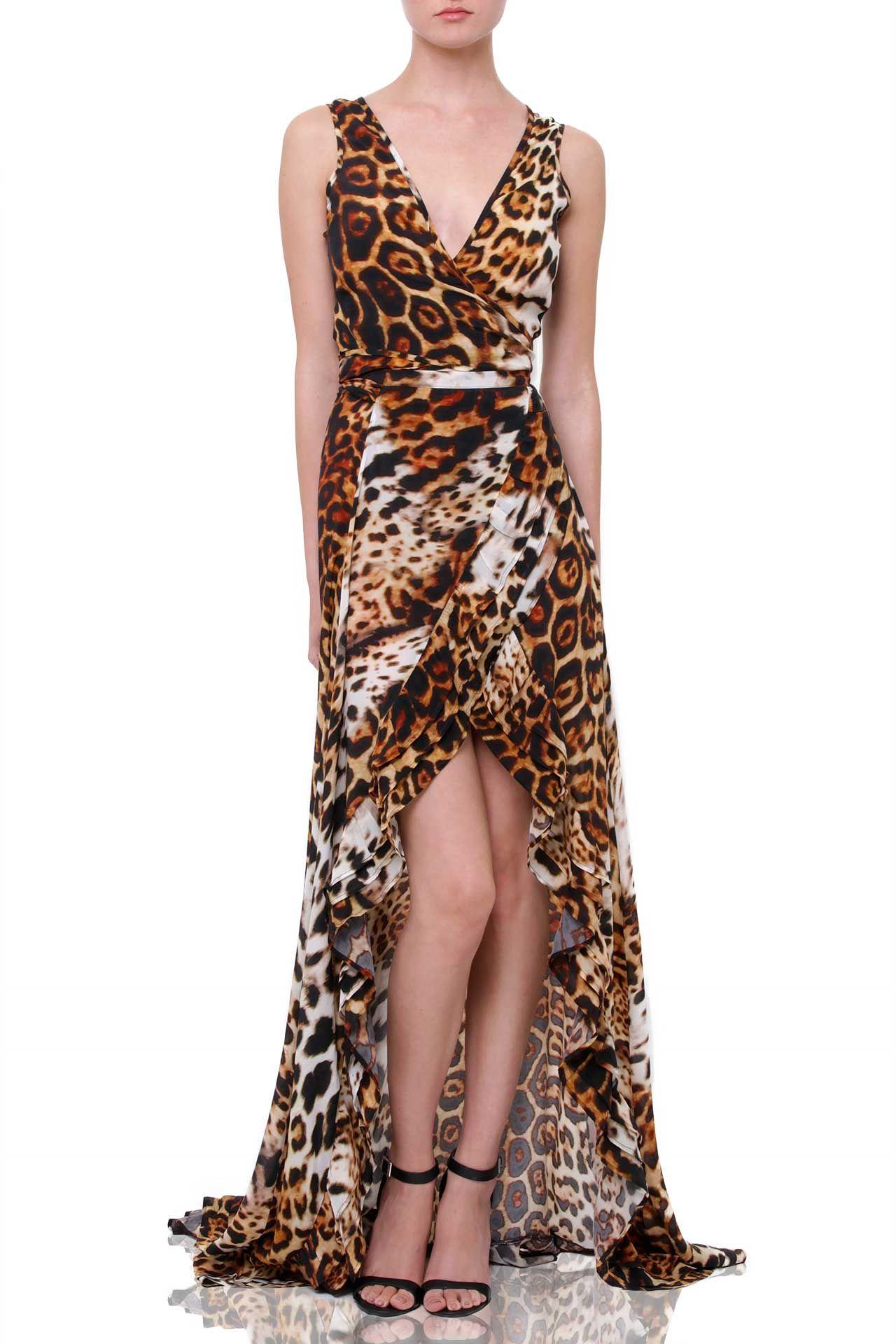 13++ Cheetah high low dress ideas
