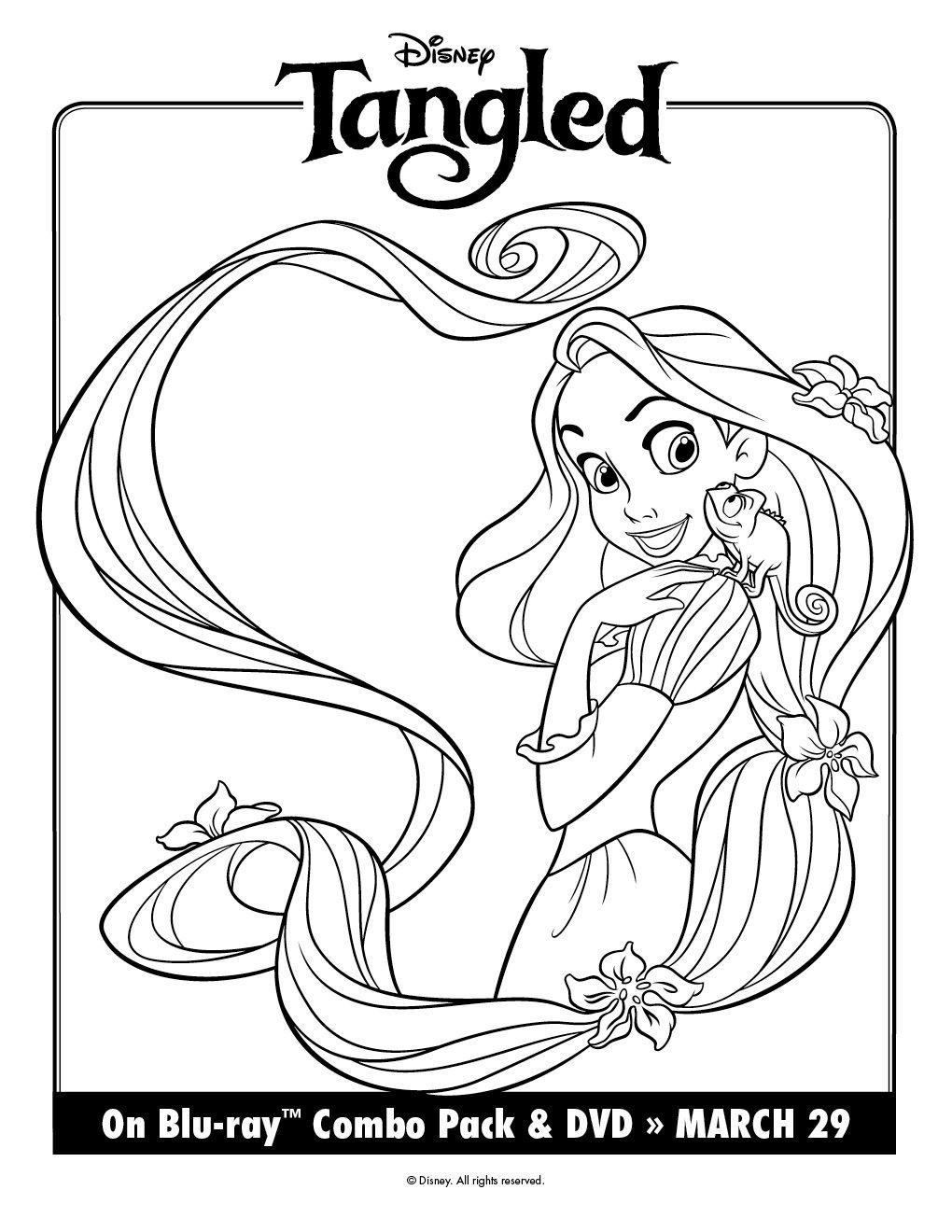 Más Dibujos Para Colorear De Enredados Con Rapunzel Rapunzel Dibujo Páginas Para Colorear Disney Páginas Para Colorear