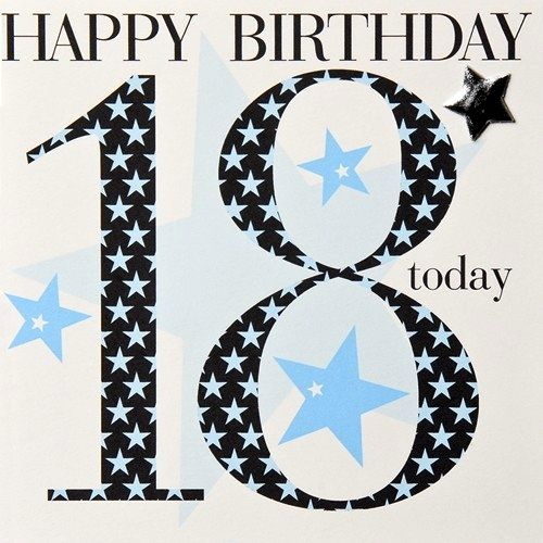 CG18bLjpg 500 500 pixels Card ideas Pinterest – 18th Birthday Cards for Boys