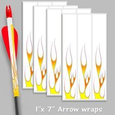 Arrow Wraps White Thin Flames 1x 7 For Arrow Building Bowhunting