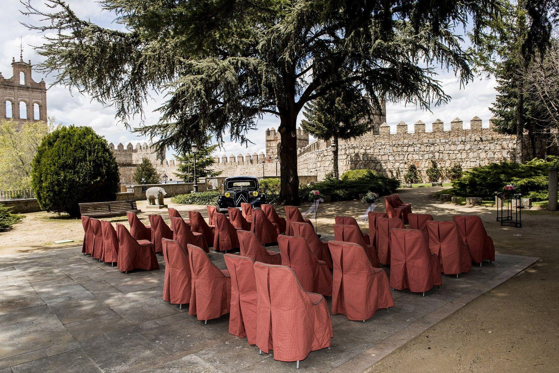 #bodas #ideales en el #Parador de #Ávila #exterior #decoración #wedding #love