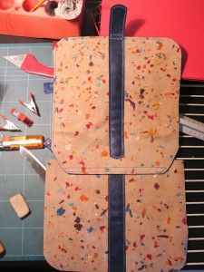 How to sew leather - Attach flap and rear quadrant http://malafola.com
