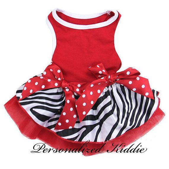 Christmas Pet Dress Holiday Dress Dog zebra by Personalizedkiddie