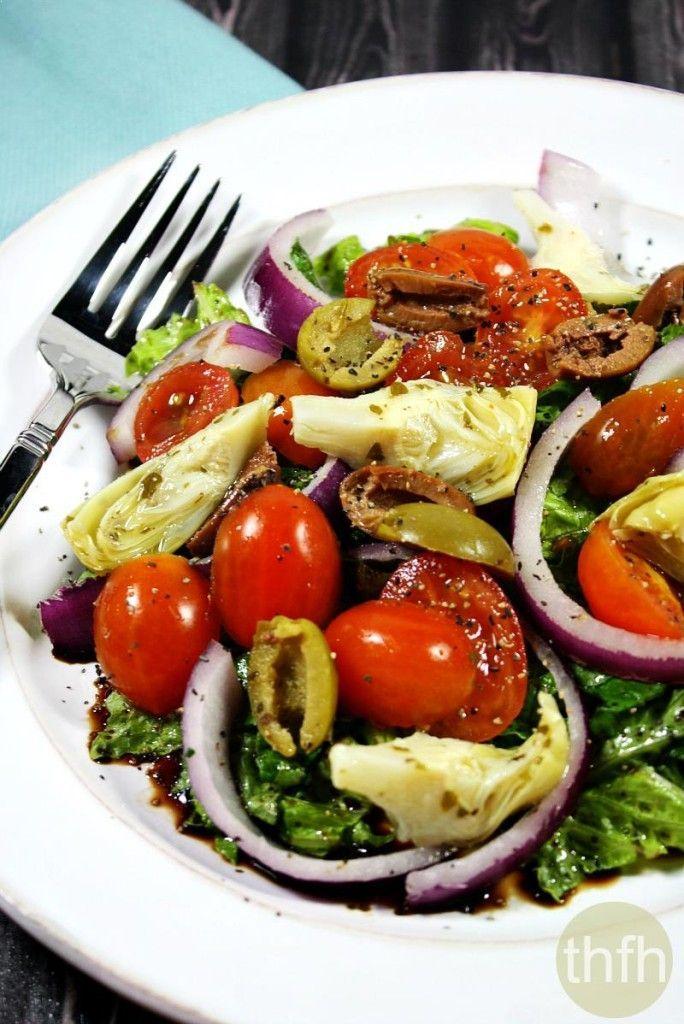 GlutenFree Vegan NoTofu Greek Salad Recipe Clean