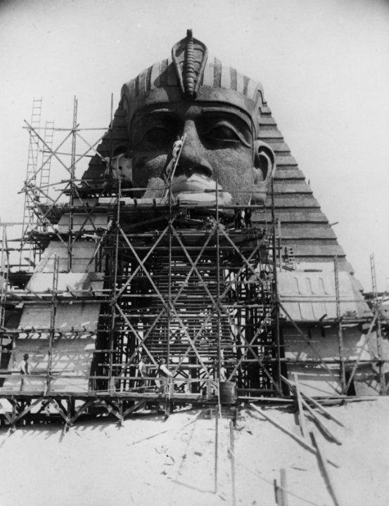 loves of pharaoh set under construction movie sets