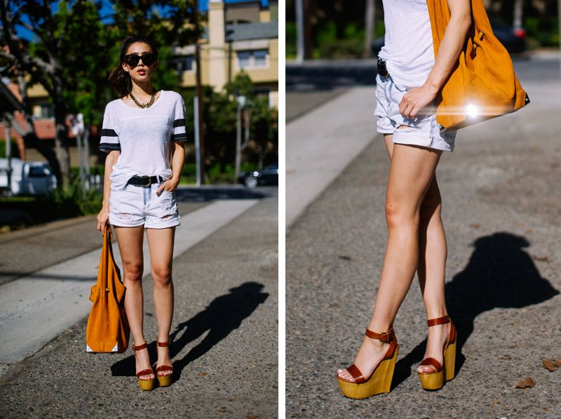 Neon Blush, Steve Madden, Beachy wedges, platform sandals, casual daywear,  Zara