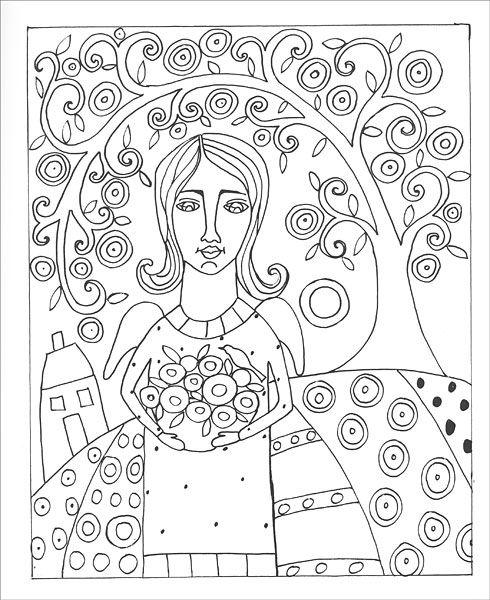 fanciful folk art coloring book by karla gerard