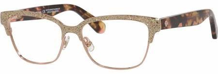29ca0a2d776 Kate Spade Eyeglasses Ladonna 0S41 Rose Gold Pink Havana 53mm