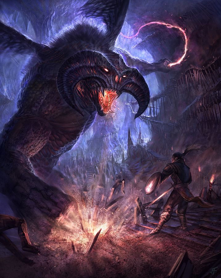 Balrog Attack The Balrogs Of Morgoth In 2019 Pinterest Tolkien