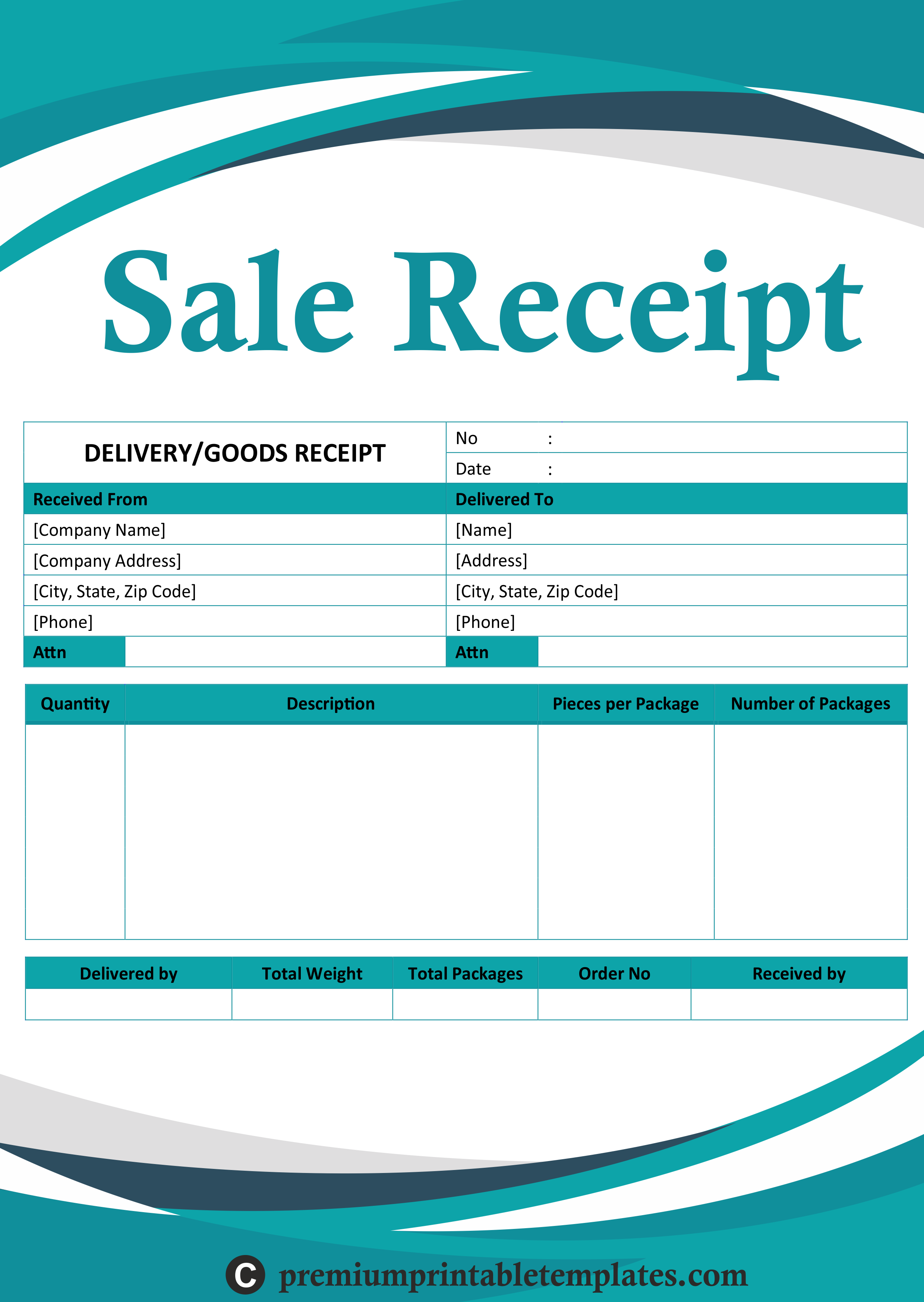 Sale Receipt Templates Receipt Template Templates Receipt