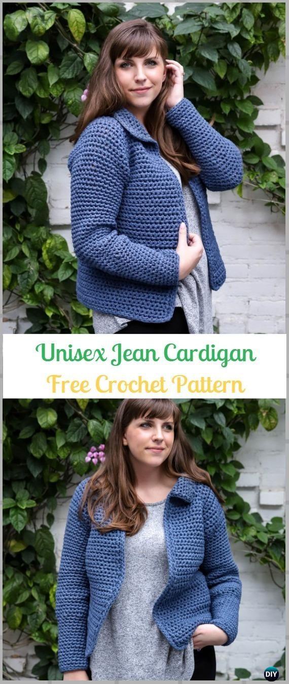 Crochet Jean Jacket Cardigan Free Pattern Crochet Women Sweater