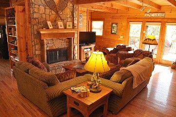 Relaxing Cozy Beautiful 3 Br Log Cabin Homeaway Blowing Rock Cabin Living Room Cabin Living Room Decor Cabin Living