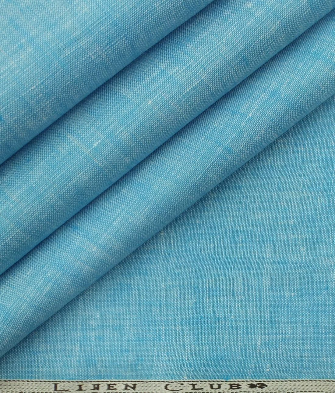 Linen Club Light Electric Blue 100 Pure Linen Shirt Fabric Pure Linen Linen Buy Linen