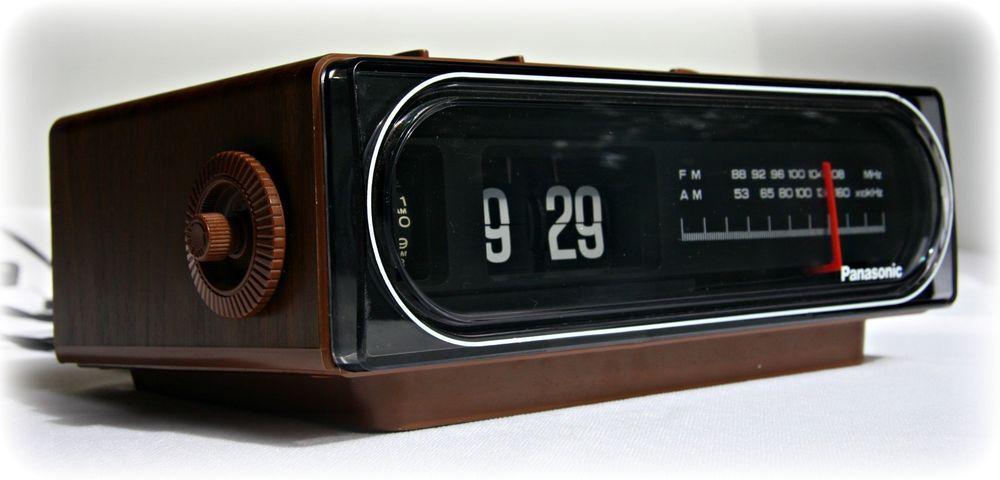 Vintage Panasonic Flip Clock Rc 6015 Back To The Future Works Clock Radio Alarm Clock Flip Clock