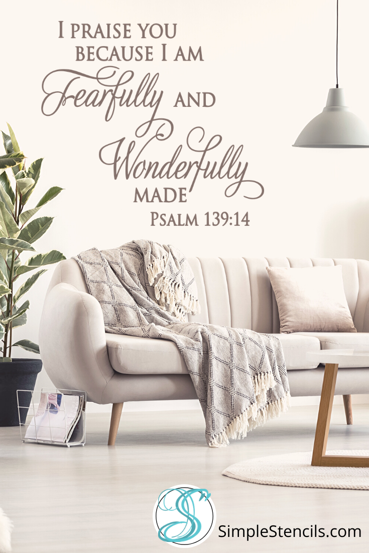 Inspirational Faith Based Wall Decals Decorate Christian Homes Or Church With Bible Verse Decor Art Bible Verse Decor Church Wall Decor Church Decor
