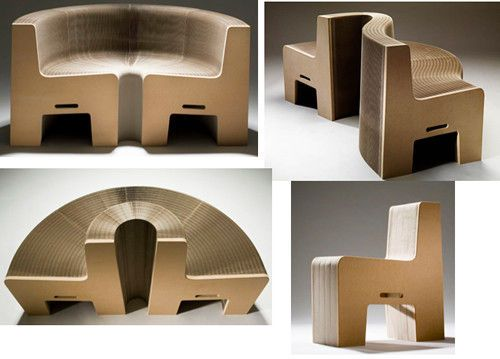 China Recyclable Corrugated Cardboard Furniture For Exhibition