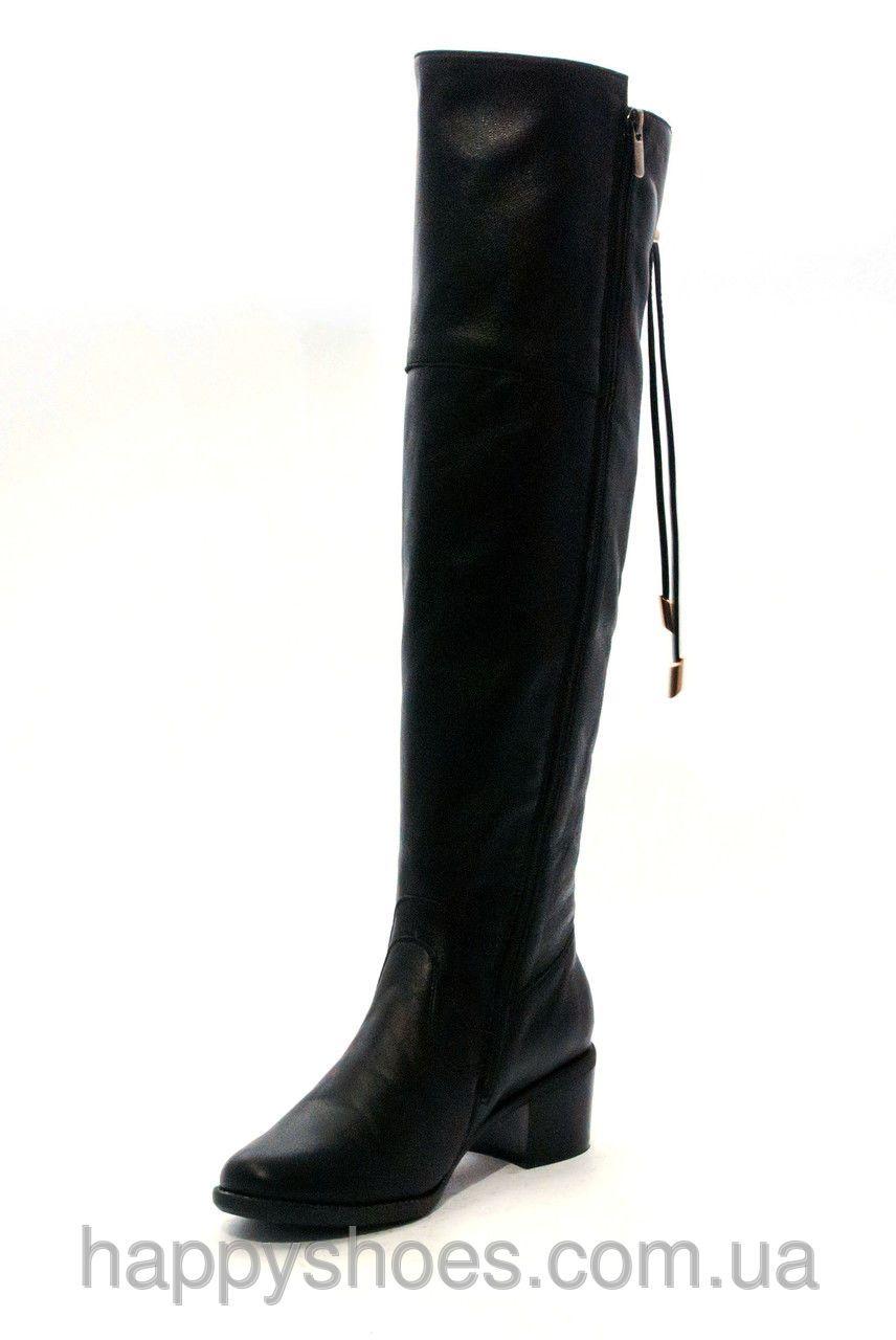 451d64cf Купить Ботфорты зимние со шнуровкой и боковой фигурной резинкой в Запорожье  от компании