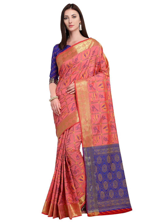 811c358e998470 Divastri Embellished #Patola Silk, #Banarasi Silk Saree (#Pink ...