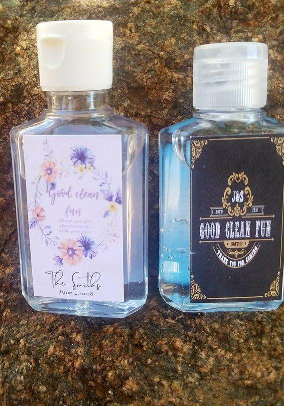 Wedding Or Bridal Shower Hand Sanitizer Labels Party Favors