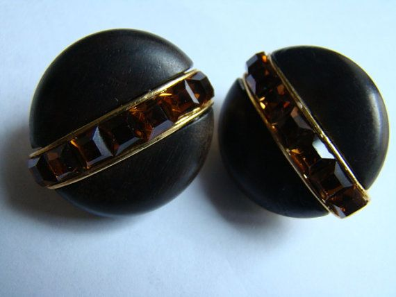 Haute couture Yves Saint Laurent YSL  Earrings by brocantic, $115.00